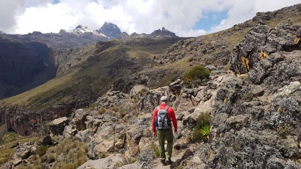 hike on Chogoria route